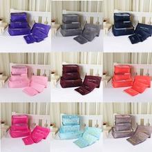 6PCS/Set High Quality Cloth Mesh Luggage Travel Bag