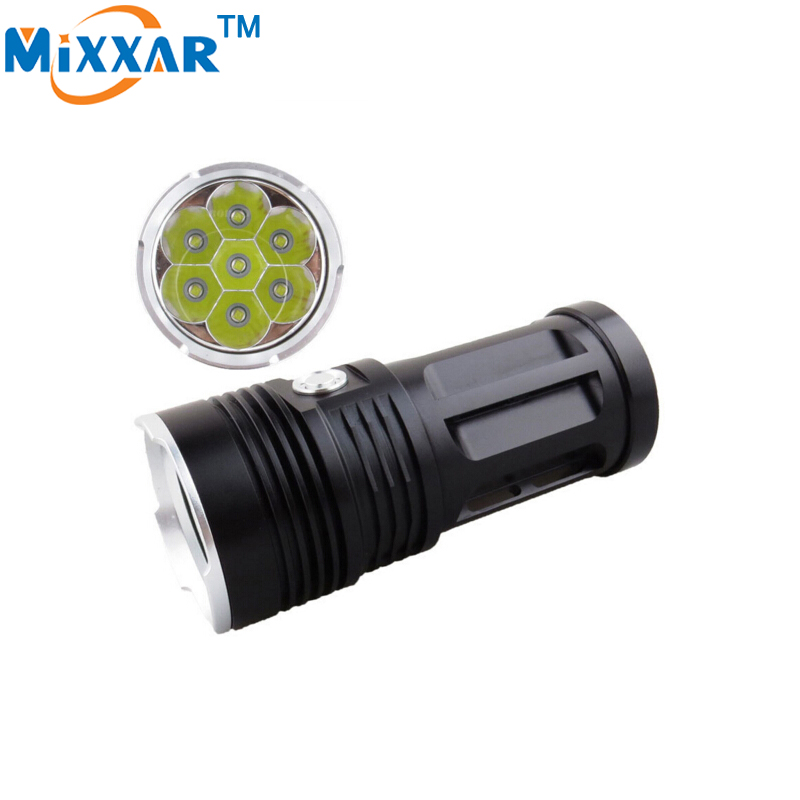 RU ZK50 14000LM LED Flashlight Cree XM-L T6 Flashlight 7x LED Beads Tactical Lantern Torch Can Be Used With 4x18650 Battery ru zk50 led flashlight 3x 5x 7x 9x cree xm l t6 lamp beads led torch flash light tactical lantern for hunting camping no battery