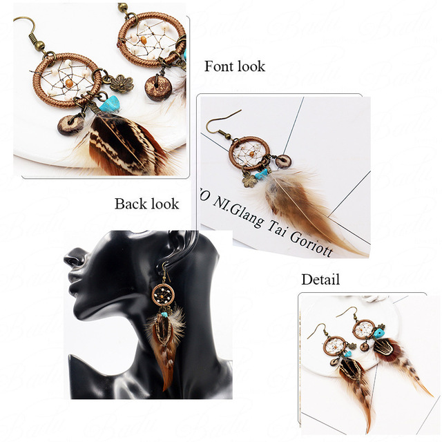 Dreamcatcher earrings - boho accessories