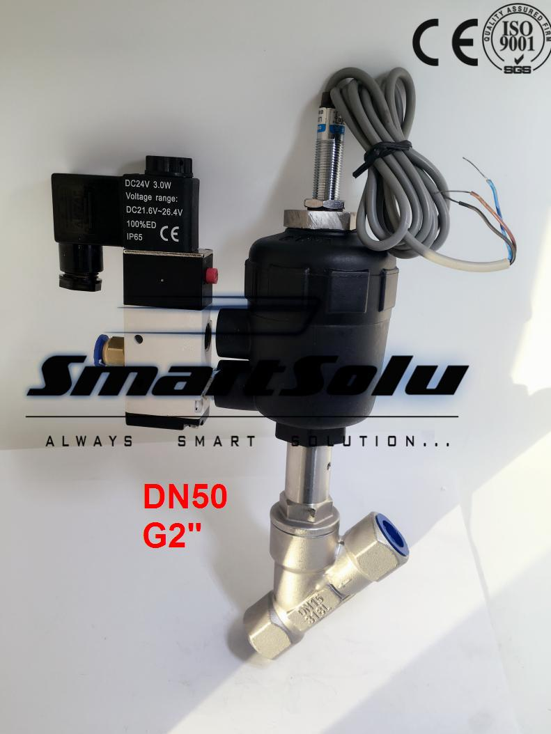 Free shipping DN50 pneumatic angle valve mounted with proximity switch and solenoid valve G2 1pcs 2flutes 12mm micro grain solid carbide end mills milling cutter cnc lathe tool router bits hrc45 50
