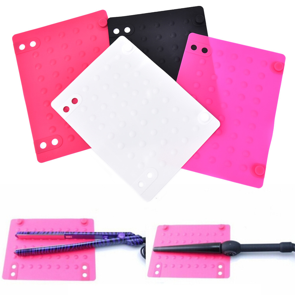 Silicone Heat Resistant Mat For Hair Straightener Curling Iron Pad Hair Styling Adapter Salon Styling Straightener Tool