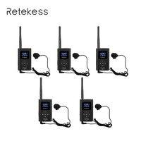 Retekess 5 шт. портативный Радиоприемник 0,3 Вт fm передатчик MP3 трансляция Радио передатчик для автомобиля встреча экскурсовод F9212A
