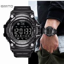 Gimto marca led al aire libre electrónica podómetro inteligente reloj impermeable del deporte digital smart watch reloj de los hombres