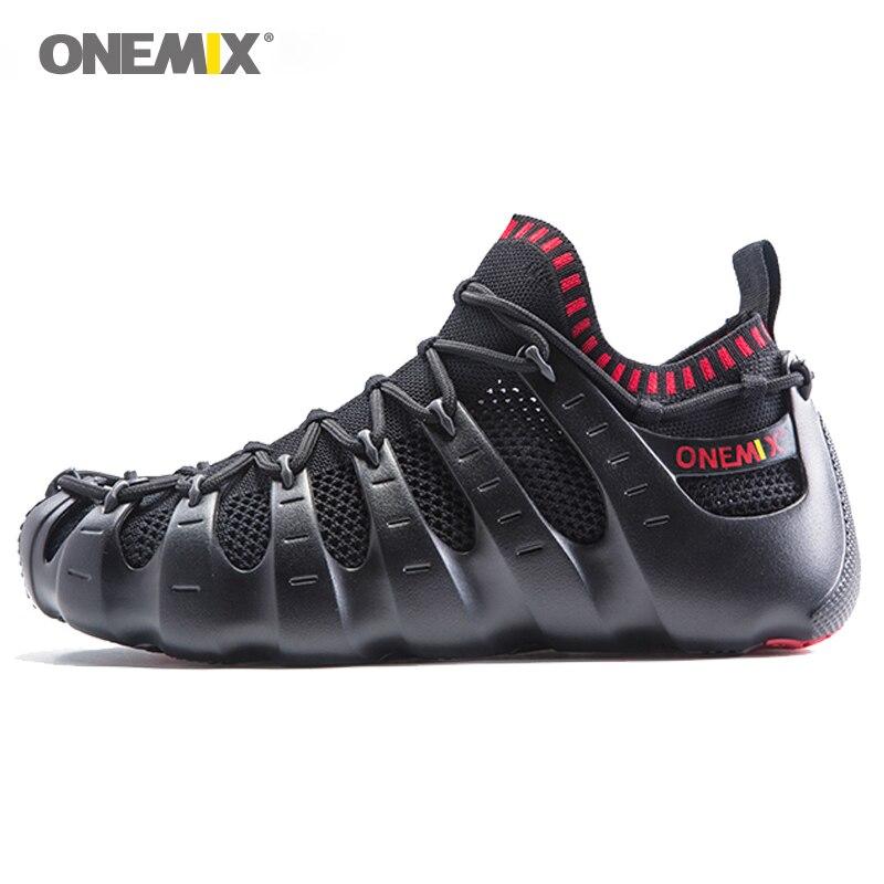 onemix men running shoes unique 1 shoe 3 wearing design outdoor men walking four seasons unisex jogging shoes size EU36-46 цены онлайн