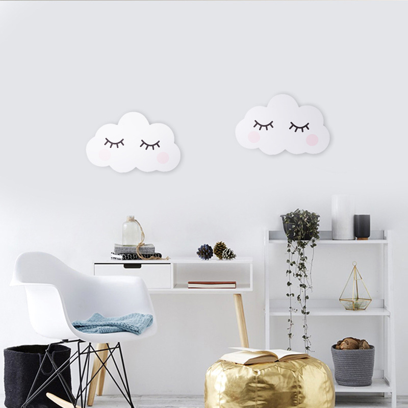 Us 4 74 5 Off 1 Pc Nordic Nursery Decor Kids Room Scandinavian Decoration Cloud Face Wall For Children In