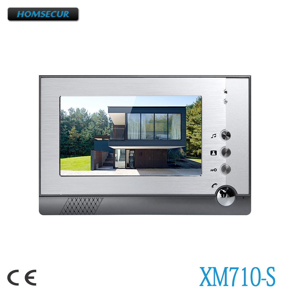HOMSECUR 7inch Indoor Monitor With Model XM710-S For Video Door Phone System homsecur 7 color indoor monitor xm710 s for video door phone intercom system
