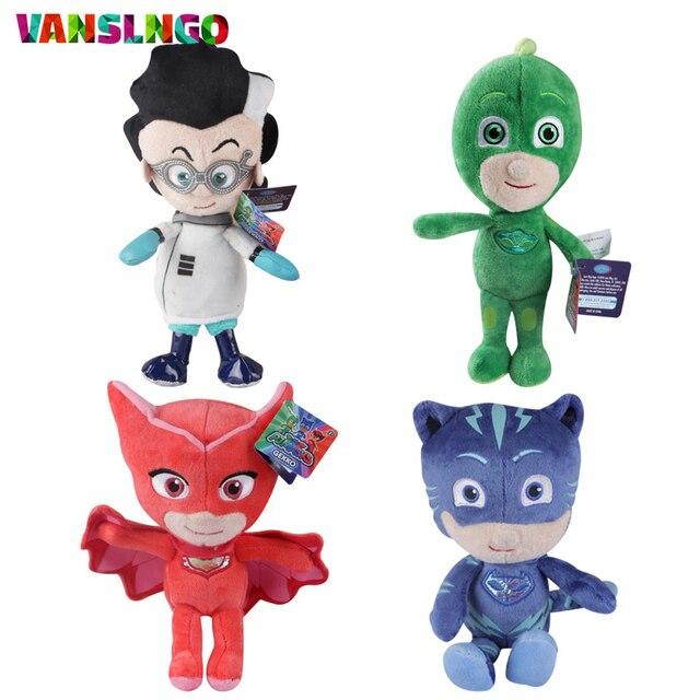 New PJ Masks Plush Toys Doll Cartoon Hero CatBoy Gekko