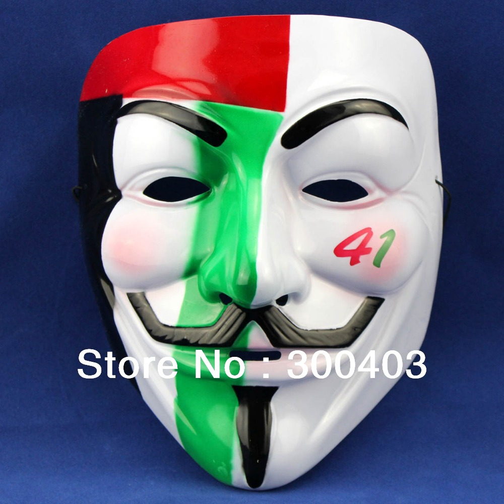 Hot V for Vendetta Halloween anonymous Collector's Party Face Mask ...