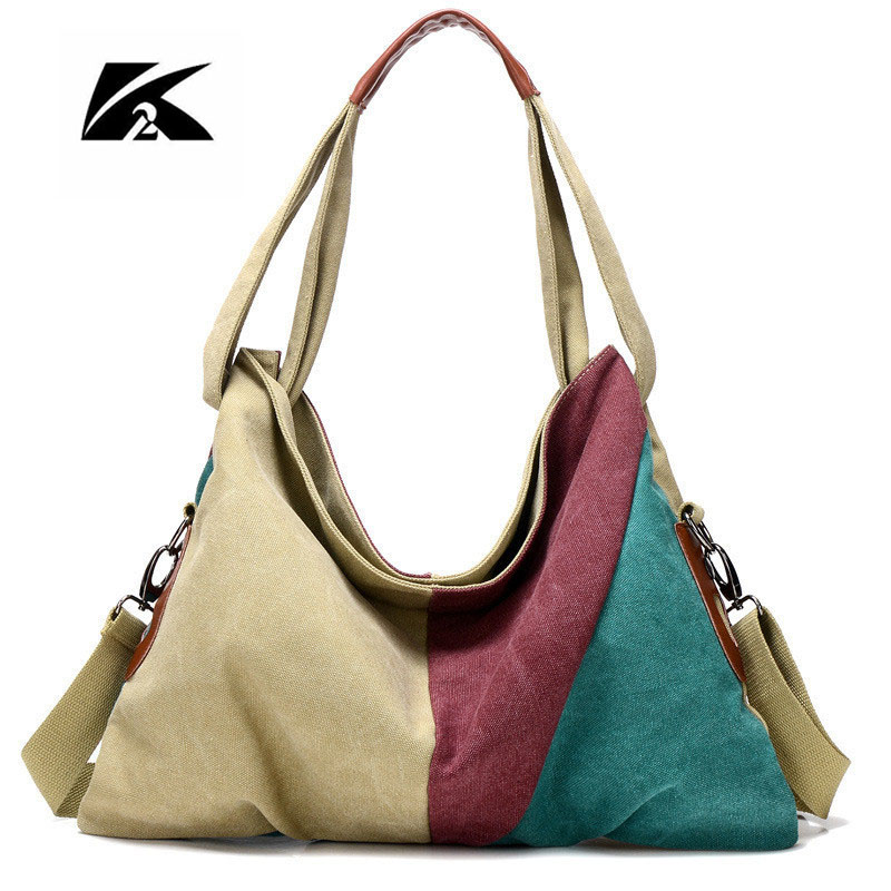 Kvky 2017 New Style Women Bag Canvas Handbag Messenger Bag Female Casual Shoulder Bags Designer