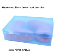 4pc Lot Women S Stackable Plastic Storage Heaven Earth Cover Short Boot Boxes Ladies Foldable Clear
