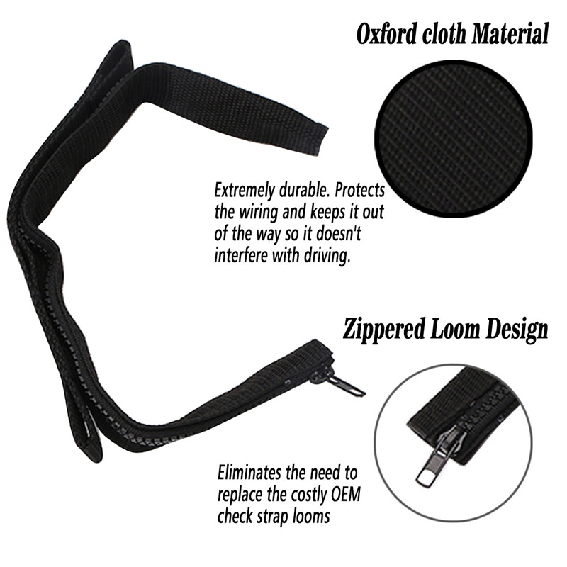 Door Adjustable Limiting Strap for Jeep Wrangler JK 2007-2018 Door Check Straps with zipper 2PCS,Black