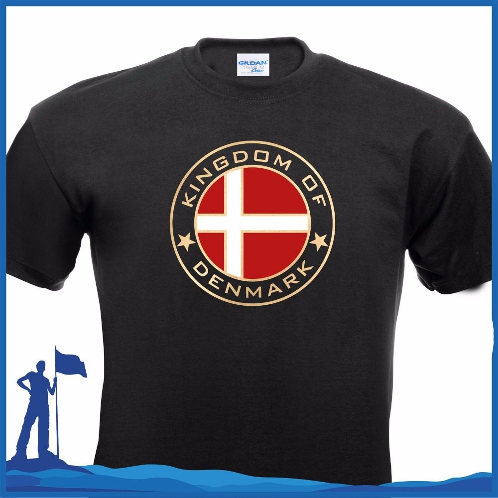 100% Cotton Classic Tee Shirt Unisex More Size And Colors T-Shirt Kingdom Of Denmark Danmark Copenhagen Men Tee Shirt