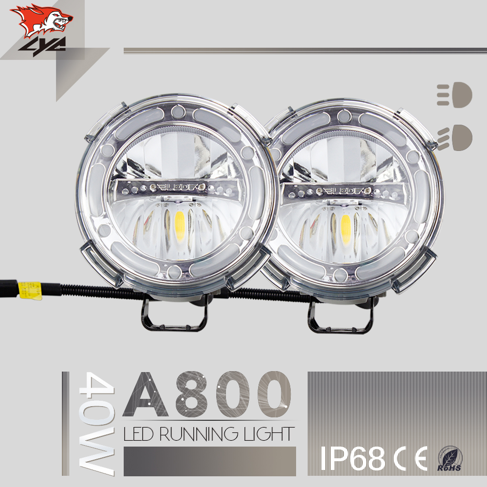 LYC 1 Pcs 7 Round Led Sealed Beam 40w Accessories for Jeep Grand Car Led Head Light 6000k Die-cast aluminum IP68 1800LM Super lyc 6000k led daylight for citroen c4 for nissan led headlights 12v car led lights ip 68 chips offroad work light 40w