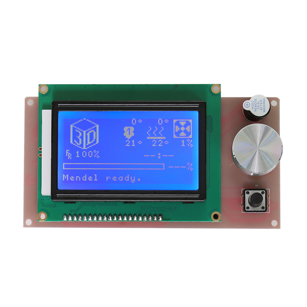 Anet A6 12864 LCD Smart Display Screen Controller Module with Cable for 3d printer A6 E10 RAMPS 1.4 Arduino parts