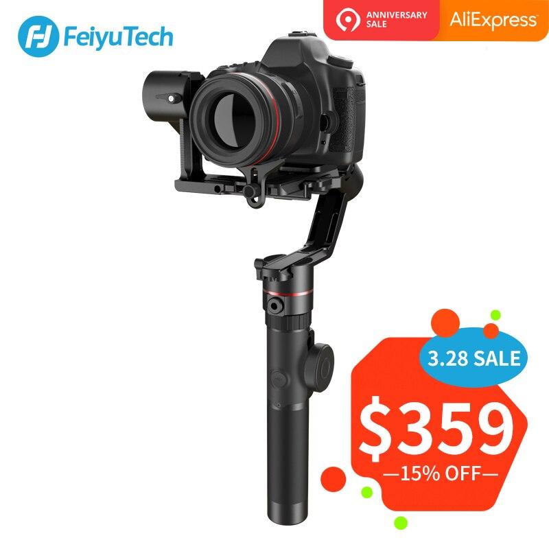 FeiyuTech AK2000 3-Axe stabilisateur de caméra Cardan avec Bague de Mise Au Point pour Sony Canon 5D Panasonic GH5 Nikon 5D 2.8 kg charge utile Feiyu