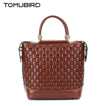 2017 new TOMUBIRD superior cowhide leather Designer Classic Ladies Embossed Floral Genuine Leather Tote women Shoulder Handbags