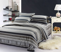 100 Cotton Sanding 4 Piece Baroque Style Stripe Duvet Cover Set With 1 Flat Sheet 2