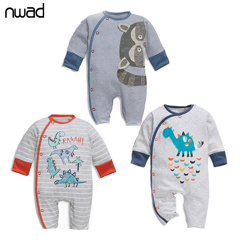 Newborn Baby Boy Romper 2017 New Brand Baby Girls Cartoon Animal Jumpsuit Infant Long Sleeve Rompers Kids Cotton Clothing FF250 baby romper newborn infant long sleeve cartoon animals rompers cotton wool baby clothing baby boy girl cute one pieces jumpsuit