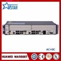 Оригинальные мини OLT MA5608T GEPON OLT, AC терминал оптической линии с двумя MUCD1, 10 г uplink