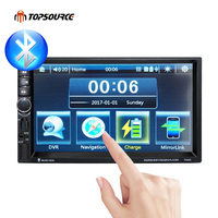 TOPSOURCE 7020G 2 Din 1080P Univeral Car DVD Video Multimedia Player 7 HD GPS Navigation MP4