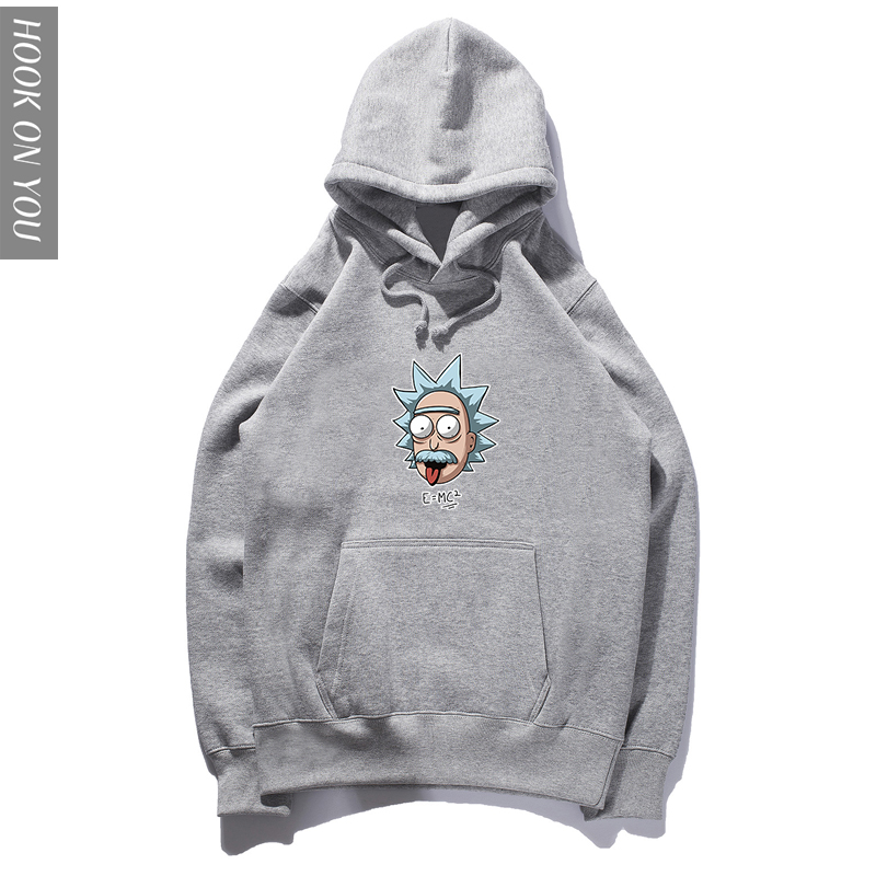New Autumn cotton Long sleeve Cartoons Hoodie Rick Morty print Men Hoody cool funny Sweatshirts Casual O-Neck Hip Hop Hoodies
