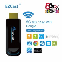 3pcs Lot EZCast 5G 2 4G Wireless Display Dongle Support YouTube EZMirror EZChannel MiraCast TV Stick