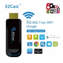 EZCast 5G/2.4G Wireless Dongle HDMI TV Stick Support Windows IOS Android Miracast DLNA Airplay WiFi 1080P Display Media Player