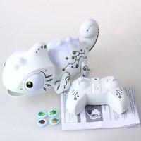 전자 애완 동물 지능형 장난감 로봇 스마트 카멜레온 로봇 동물 물건을 먹을 수 있습니다 어린이를위한 귀여운 장난감