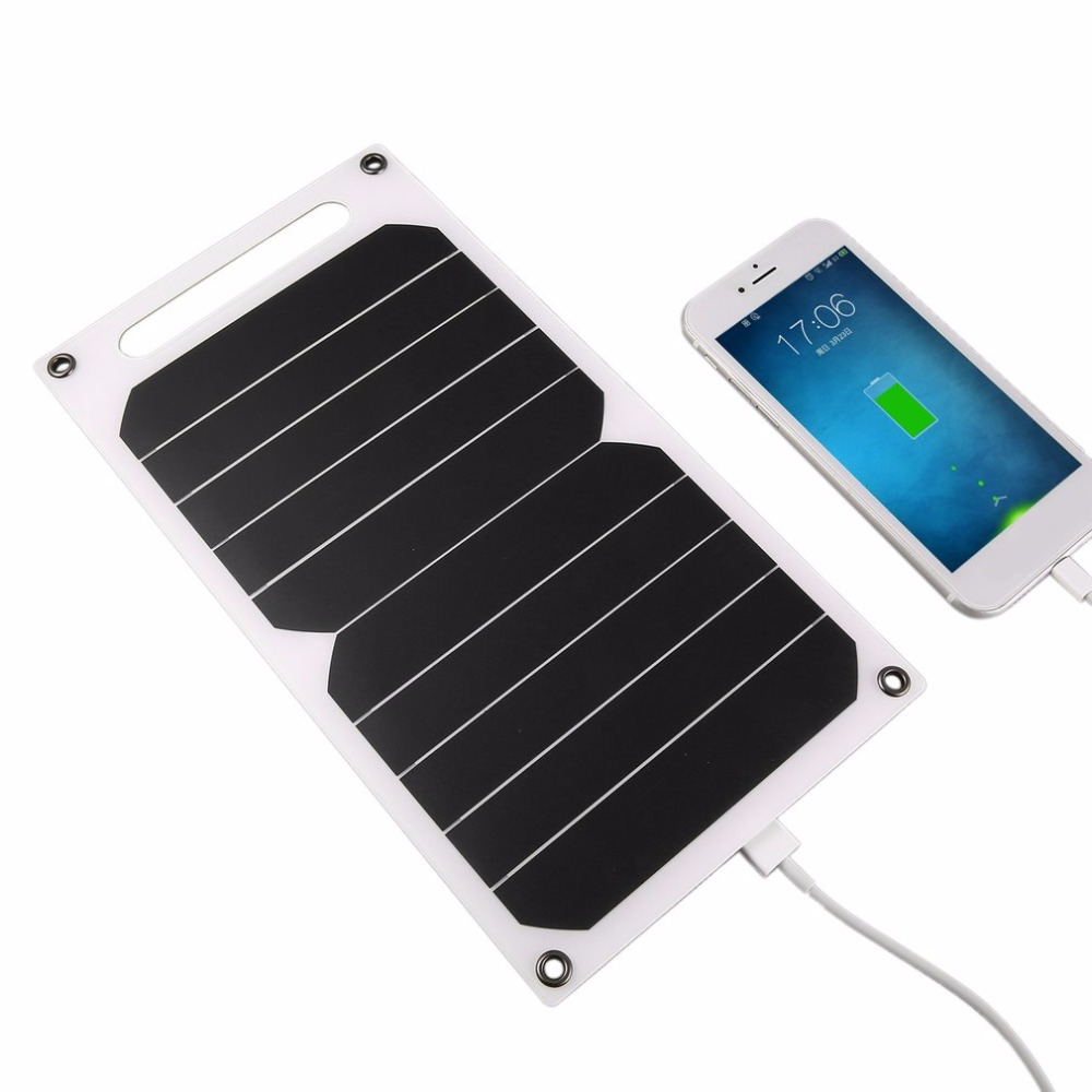 5V 5W Portable Solar Charging Panel Lightweight Solar Power USB Charger for Outdoor Mobile Smart Phone Solar Power Supply ...