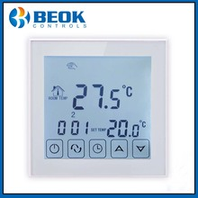 TDS23-EP Touch Screen Floor Heating Thermostat Room Temperature Controller Digital Electric Thermostat, Programmable Thermostat