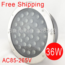 Free shipping Retail 36W Led Underground Lamps / led underground light /garden led spot lamp IP68 85V-265V/CE&RoHS