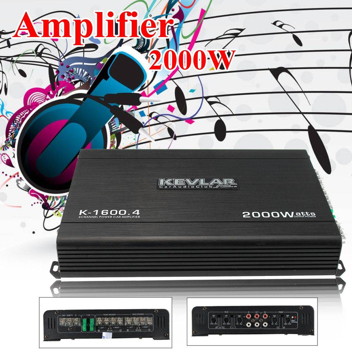 4 Channel Home Car Amplifier Audio 2000w 12dB High Power Home Car Amplifiers High Power black 12v car amplifier high power 1900w audio 4 channel 4 way amplifiers booster auto free shipping dropping