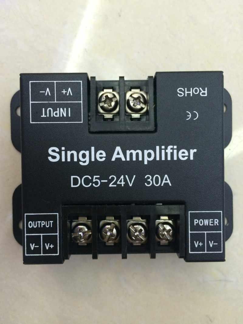 DC 12-24 V 30A Одноцветный ретранслятор данных усилитель сигнала алюминиевый корпус для SMD 3528 5050 5630 2835 Светодиодные полосы света