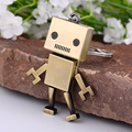 2016 Fashion Hot Sale New Arrival Metal 3d Robot Key Chain Movable Keychain Key Ring Key Holder Bag Car Pendant