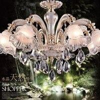 Candelabro levou moderna itália lustre de vidro artesanato em vidro de cristal moderna do candelabro de cristal k9 quarto conduziu a iluminação