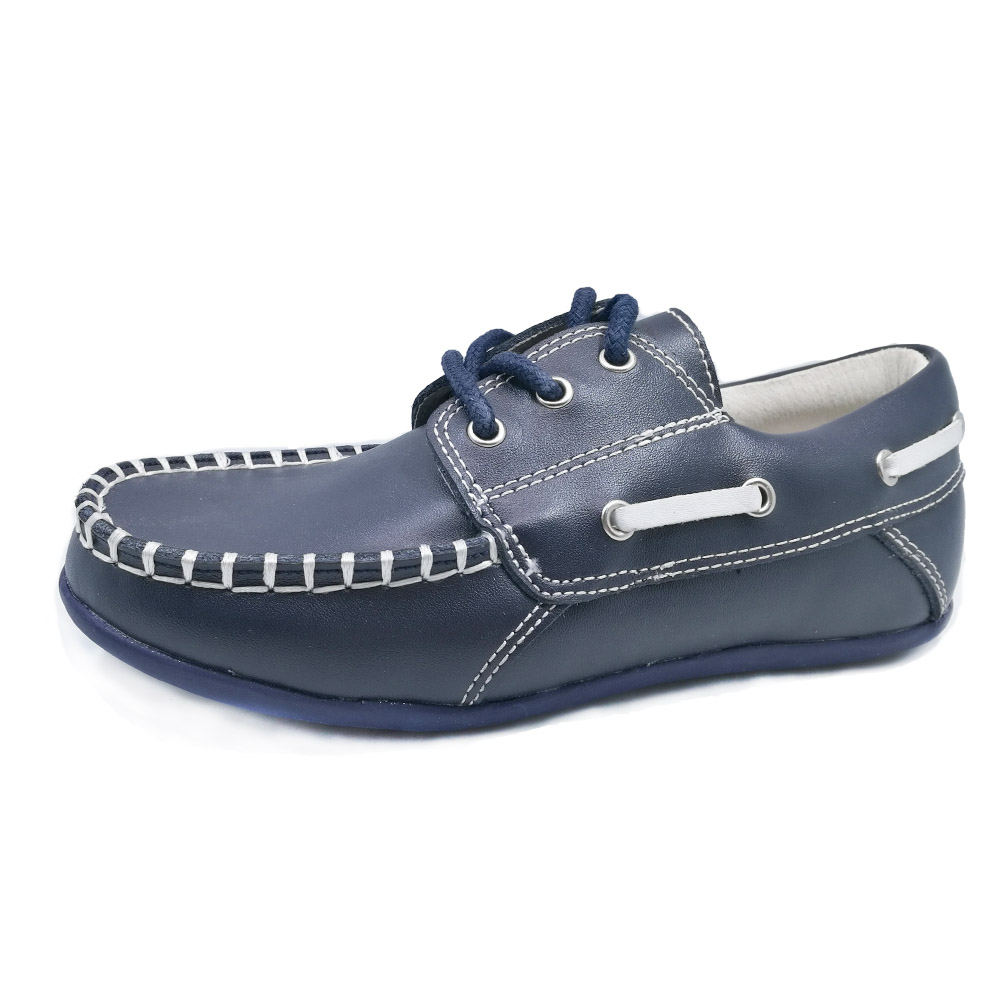 Handmade solid flat heel casual shoes children summer loafters orthopedic footwear