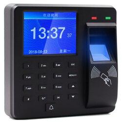 Spagnolo Coreano Inglese, Lingua Portoghese di impronte digitali di controllo di accesso di presenza di tempo di impronte digitali recorder M10
