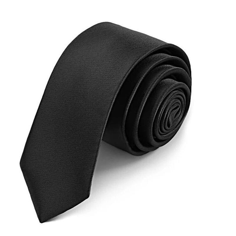 8cm Men Lazy Zipper Tie Solid Color Military Tie 9cm Polyester Silk Matt Neck Tie Necktie Customizable Ties For Men