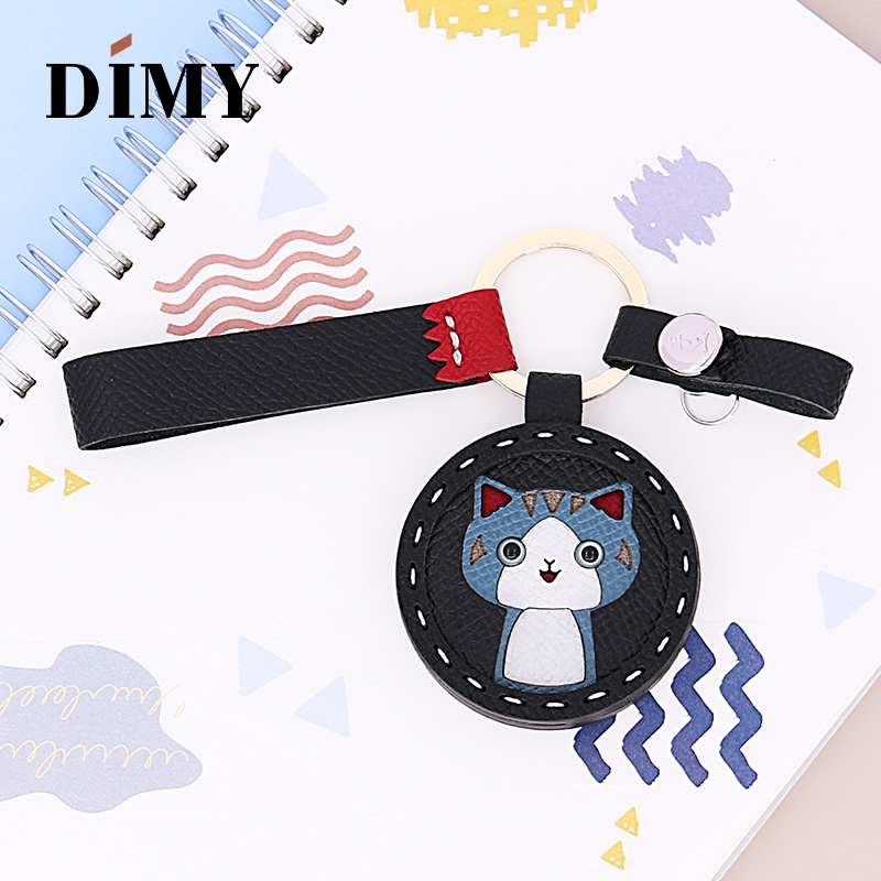 DIMY Private Custom Cute Cat Charm Bag Pendant Kitten Charm Handmade Leather Car Key Ring Ornaments Wholesale Dropshopping Price