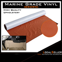 130cm x 139cm Mold Resistant Marine Boat Auto Vinyl Fabric Fake Leather Upholstery Brown
