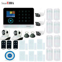 SmartYIBA APP Control GSM Home Security Alarm System Outdoor Indoor Camera Door Gap PIR Motion Sensor