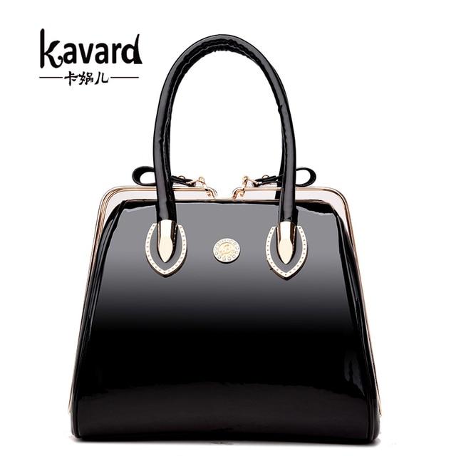 Kavard Luxury Patent Leather Handbags Women Bags Designer Wedding Handbag Las Evening Bag Bride Tote