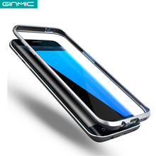 Ginmic Luxury Aluminum Bumper for Samsung S7 Edge Ultra Thin Phone Cases Protecetive Metal Frame Shell Cell Phone Accessories