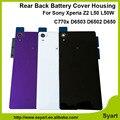 1 unids Negro blanco Púrpura Espalda Cubierta de Vidrio con Adhesivo Para Sony Xperia Z2 C770x L50 L50W D6502 D6503 D650 Vivienda Puerta de La Batería