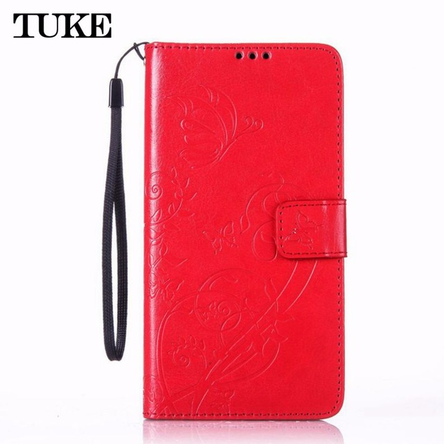 TUKE Butterfly Pattern Wallet Leather Phone Case For Samsung Galaxy S3 SIII Mini S3Mini i8190 GT-i8190 TPU Back Cover Flip Stand