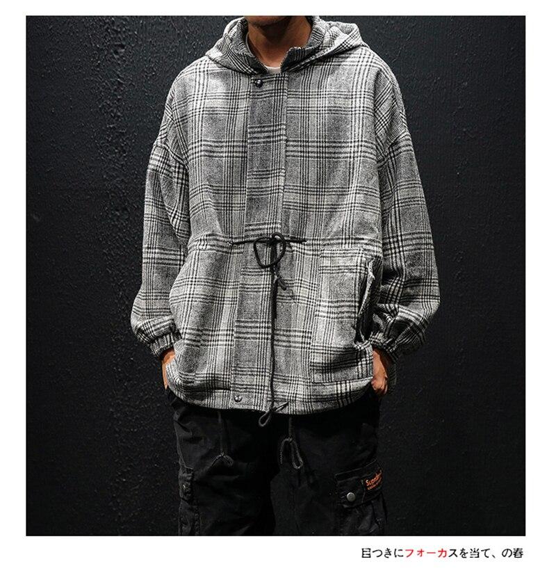 Korean Trench Coat Men Overcoat Hood Slim Fit (10)
