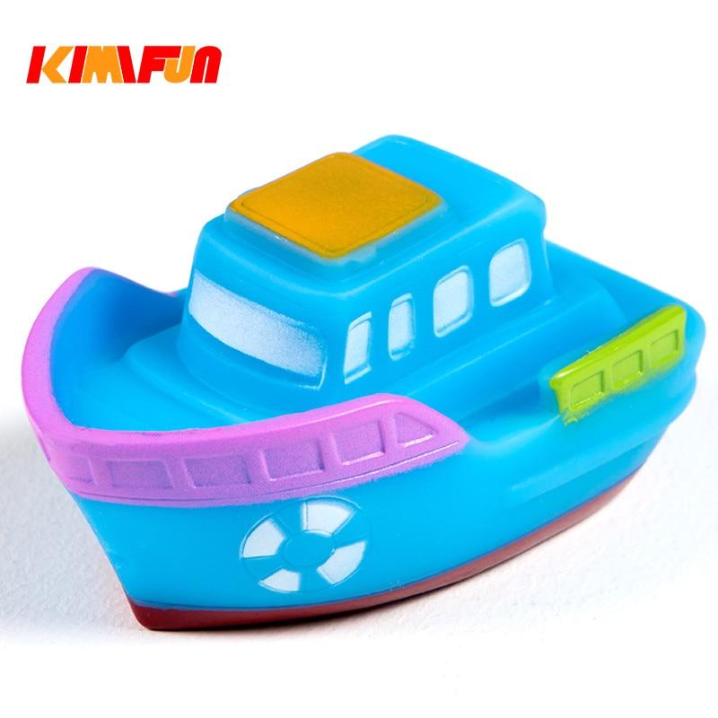 New Soft Rubber Float Sqeeze Sound Baby Bath Play Car Plane Boat Toy STU