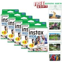 אמיתי חדש Fujifilm Instax רחב סרט לבן 100 גיליונות עבור מיידי נייר צילום מצלמה Instax רחב 200 210 300 עם גלרית מתנה