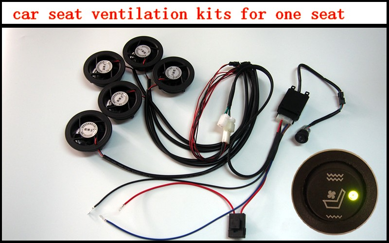 5 fans pcs car seat ventilating kits with high quality black fans it can cool the