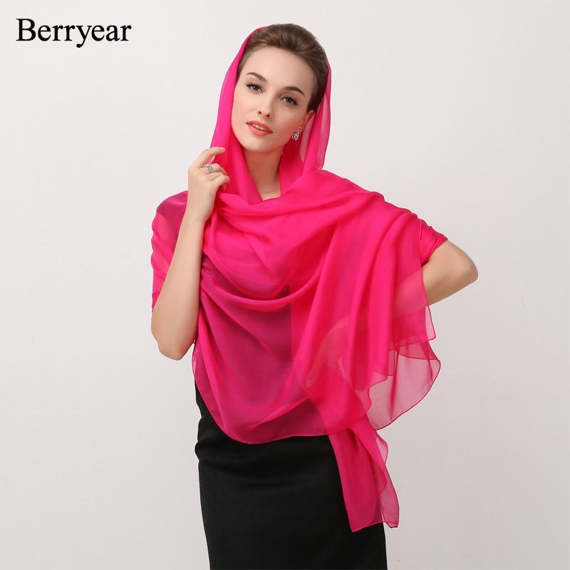 Berryear 100 ٪ الأوشحة الحريرية الطبيعية - ملابس واكسسوارات